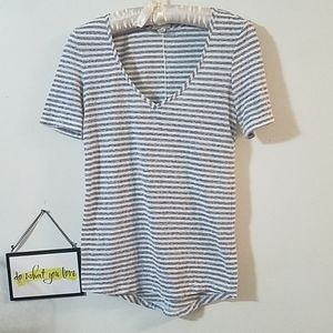 Victoria's Secret low cut striped t-shirt